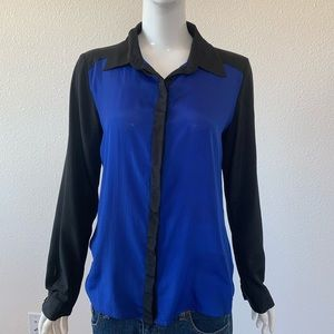 forever 21 blouse blue Button down